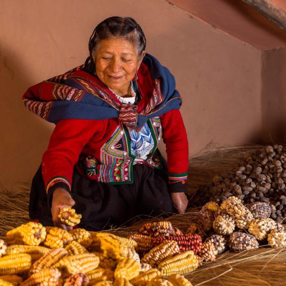 Cléofécélia lauréate de l'international Award terre de Femmes 2021 de la Fondation Yves Rocher répertorie, préserve et diffuse les connaissances en matière de graines et de semences locales pour sauver tout un pan du patrimoine végétal et culturel des Andes.