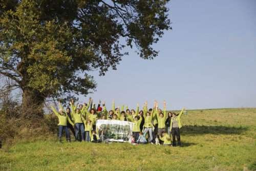 Plantations d'arbres à Valence, planteurs volontaires Fondation Yves Rocher