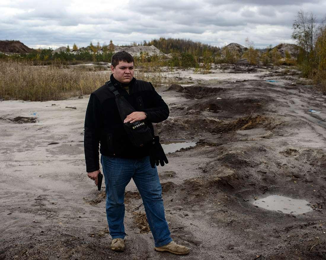 Trafic clandestin de l'ambre, la menace Ukraine reportage photographique Guillaume Herbaut