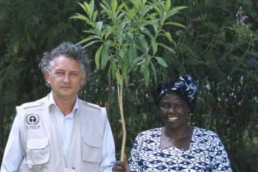 Jacques Rocher and Wangari Maathai