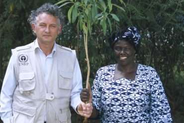 Jacques Rocher et Wangari Maathai