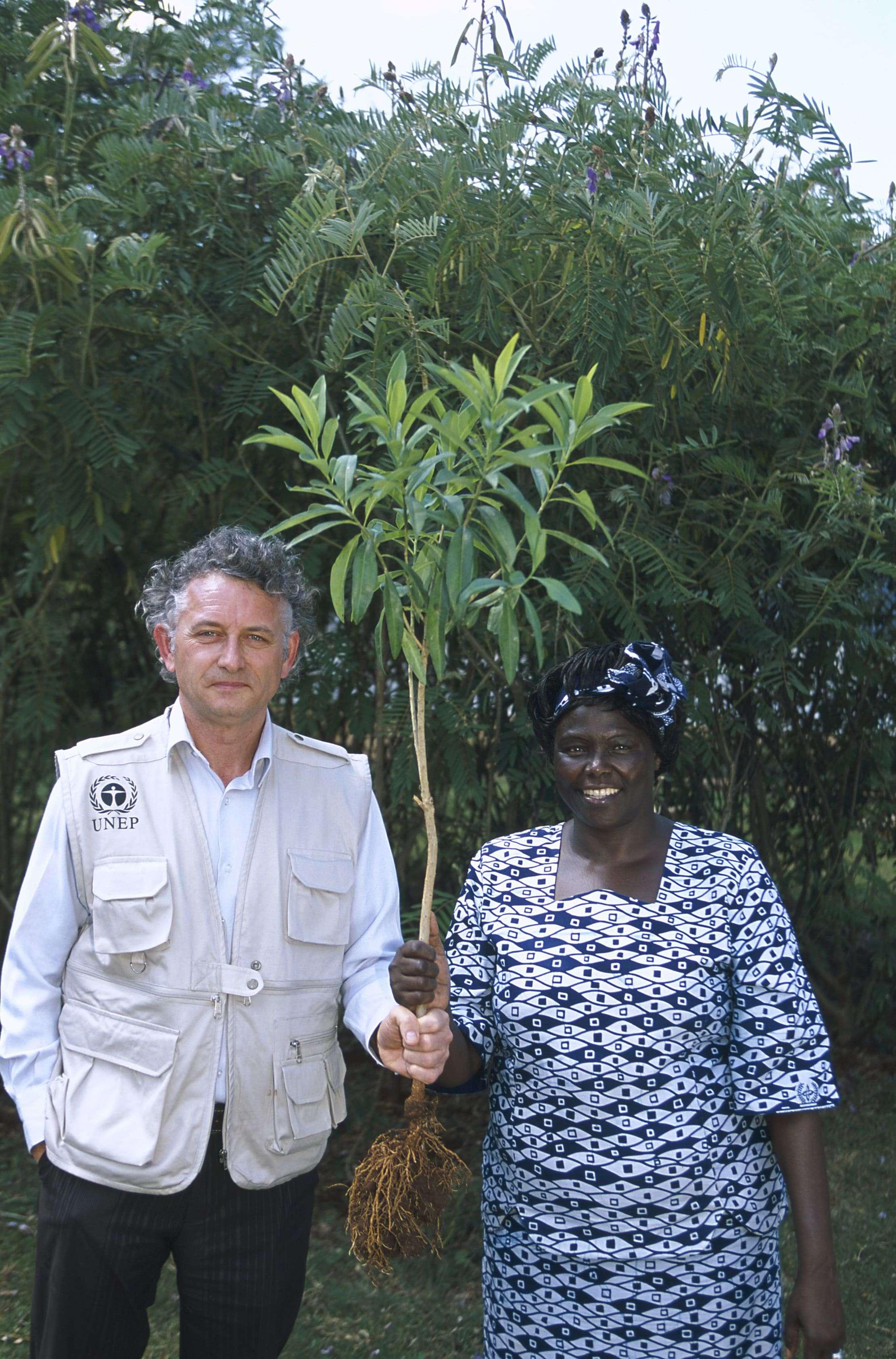 Jacques Rocher and Wangari Maathai