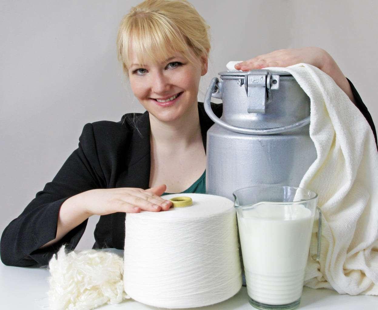 Anke Domaske / QMilk / Allemagne / Recyclage du lait non consommé/fibre textile/gestion des déchets/ économie circulaire