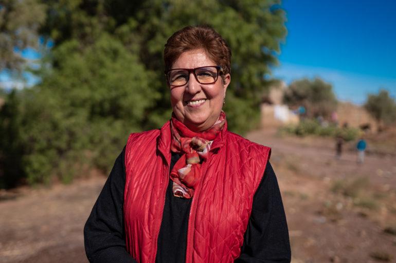 Hassania Kanoubi / Association Rosa / Autonomisation des femmes / élevage de chèvres et production biologique