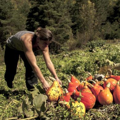 Marie Bonneville lauréate de l'international Award terre de Femmes 2021 de la Fondation Yves Rocher agit pour préserver et défendre le patrimoine génétique végétal des produits locaux en Alpes-Maritimes.