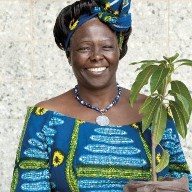 prix Nobel de la paix et marraine de la campagne Plant for the planet de l'ONU