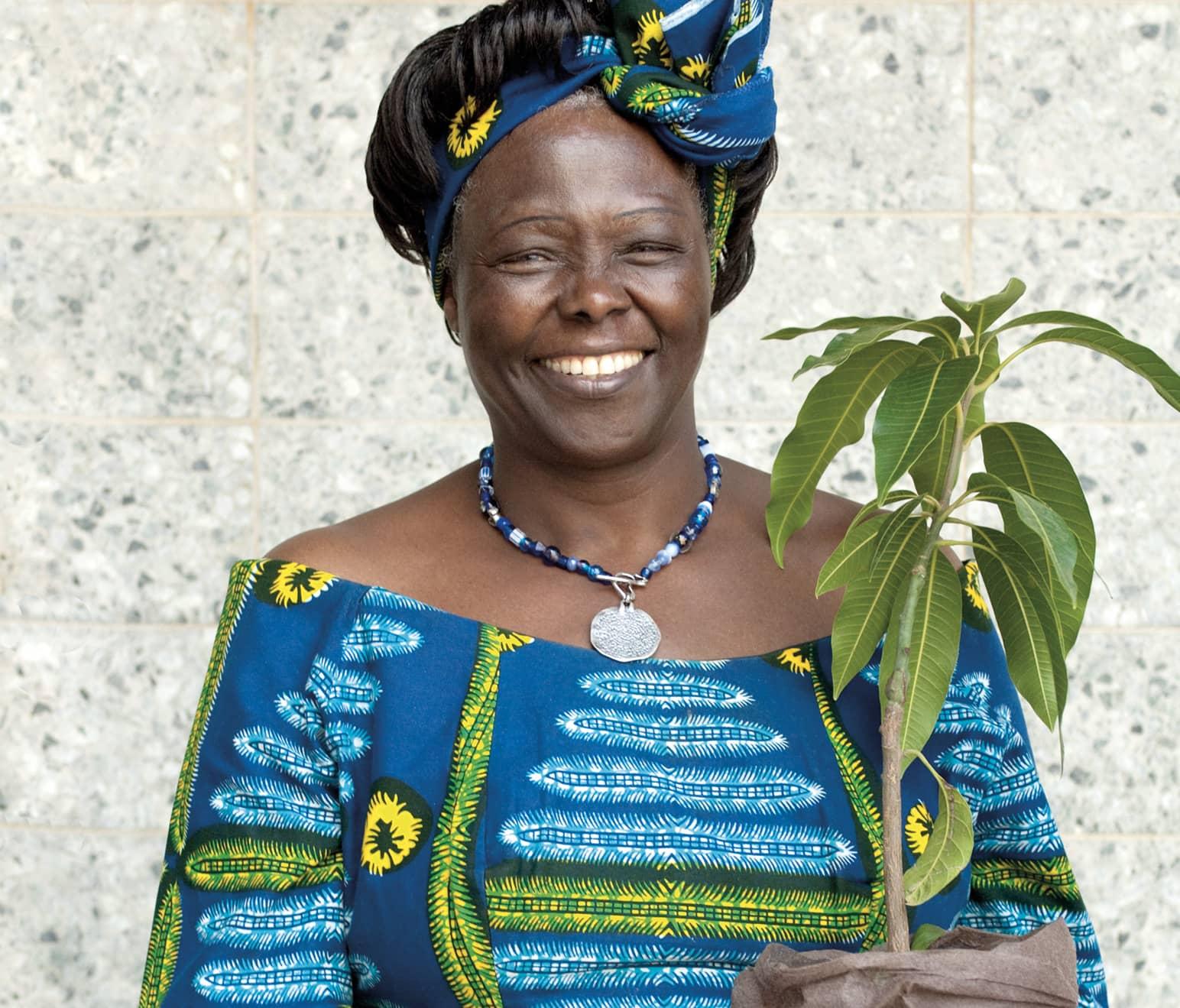 Wangari Maathai prix Nobel de la paix et marraine de la campagne Plant for the planet de l'ONU